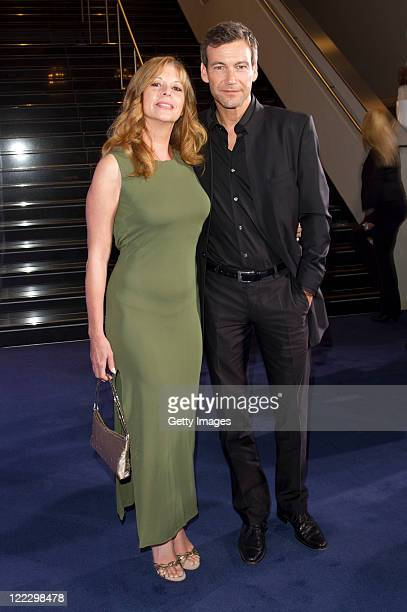 Olivia Pascal and Peter Pascal-Kanitz attend the JAB Anstoetz European Ladies Golf Awards at the Leonardo Royal Hotel Munich on August 27, 2011 in...