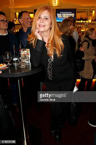 Olivia Pascal attends the Premiere of 'Das Geheimnis der Hebamme' at Gloria Palast on March 16 2016 in Munich Germany