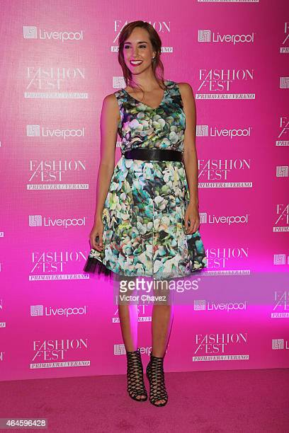 Olivia Peralta attends the Liverpool Fashion Fest Spring/Summer 2015 at Televisa San Angel on February 26 2015 in Mexico City Mexico
