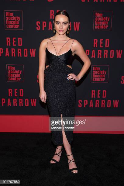 Olivia Perez attends the 'Red Sparrow' New York premiere at Alice Tully Hall at Lincoln Center on February 26 2018 in New York City