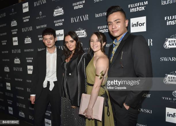 Olivia Perez Kathleen Frye and Sonne Pajwa attend Harper's BAZAAR Celebration of ICONS By Carine Roitfeld at The Plaza Hotel presented by Infor Laura...