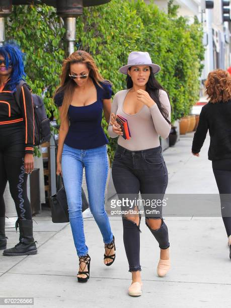 Olivia Pierson and Natalie Halcro are seen on April 18 2017 in Los Angeles California