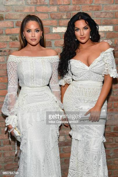 Olivia Pierson and Natalie Halcro attend the amfAR GenCure Solstice 2018 on June 21 2018 in New York City