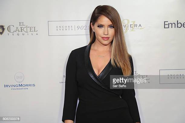 Olivia Pierson attends Larry English's Birthday Party at Sofitel Hotel on January 15 2016 in Los Angeles California