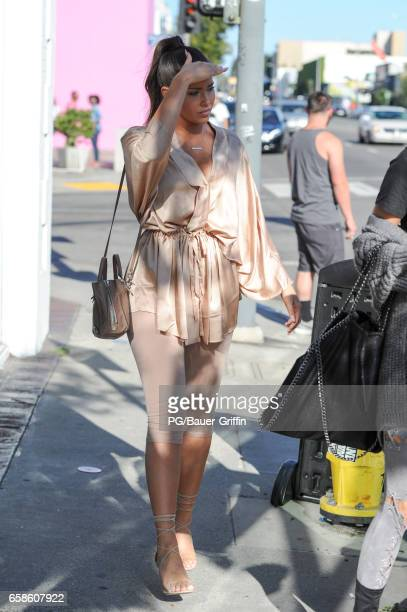 Olivia Pierson is seen on March 27 2017 in Los Angeles California