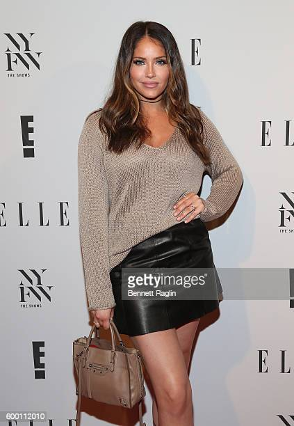 Olivia Pierson WAGS attends the E New York Fashion Week Kick Off at Santina on September 7 2016 in New York City