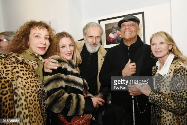 Olivia Portaud Judith Belair Jean Marie Marion Guy Cuevas and Ruth Obadia attend 20 ans aux Bains Douches Night Clubbing Photo Exhibition Preview at...