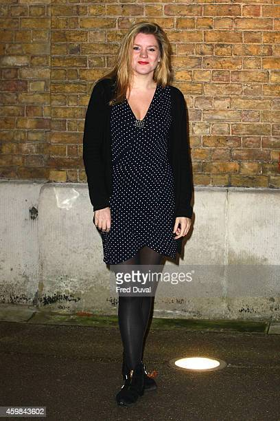 Olivia Poulet attends the private view of Stasha Palos' 'And The Stars Shine Down' at Saatchi Gallery on December 2, 2014 in London, England.