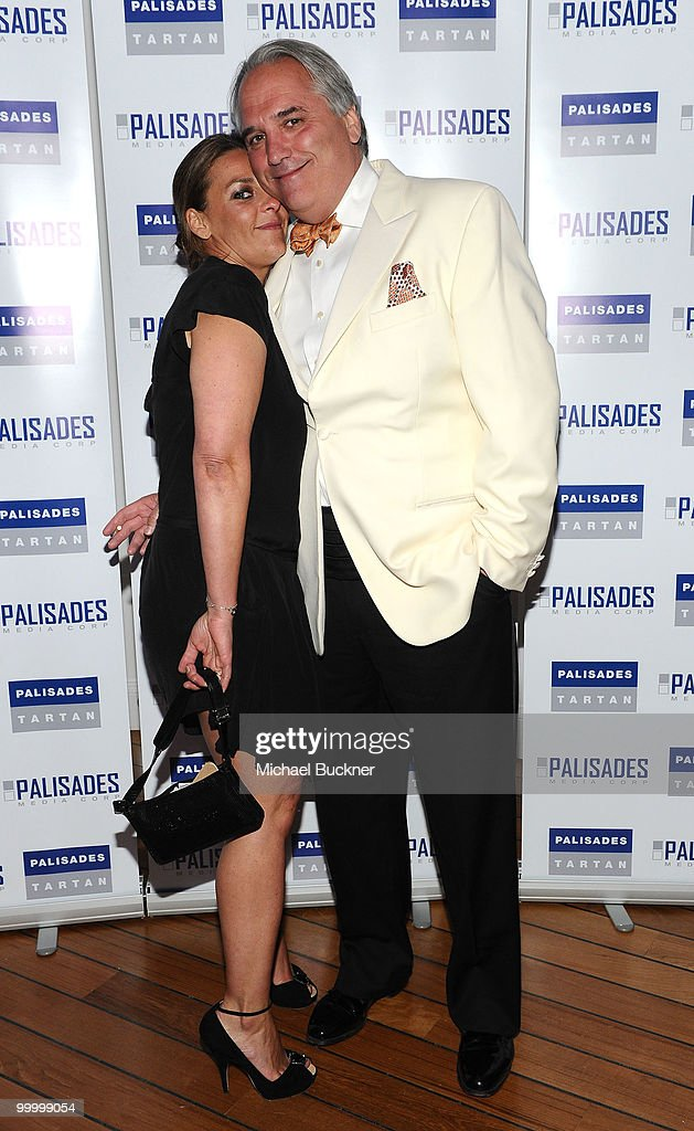 Olivia Provost and Chairman of Palisades Pictures Vincent Roberti attends the Palisades Media Corp and Vin Roberti Salute Independent Film Party held at the Hotel du Cap during the 63rd Annual International Cannes Film Festival on May 19, 2010 in Cannes, France.