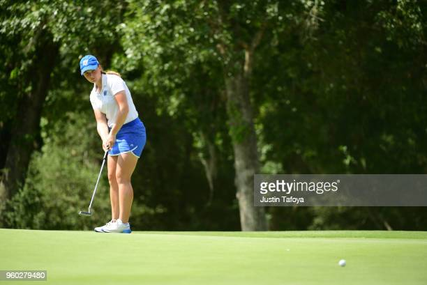 Olivia Reed of Grand Valley State putts the ball during the Division II Women's Golf Championship held at Bay Oaks Country Club on May 19 2018 in...