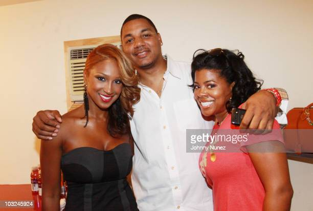 Olivia, Rich Dollar and Chrissy Lampkin attend BMI's Know Them Now showcase at the Canal Room on August 4, 2010 in New York City.