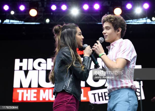 Olivia Rodrigo and Joshua Bassett of High School Musical The Musical The Series perform onstage during the 5th Annual Elsie Fest Broadway's Outdoor...