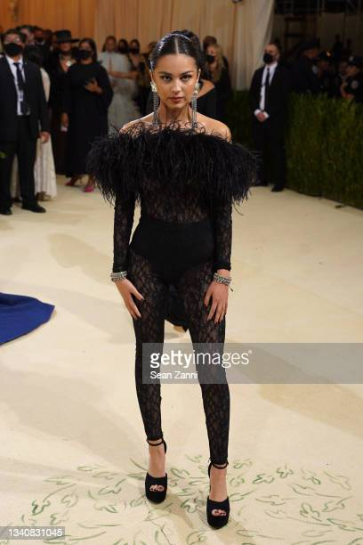 Olivia Rodrigo attends 2021 Costume Institute Benefit - In America: A Lexicon of Fashion at the Metropolitan Museum of Art on September 13, 2021 in...