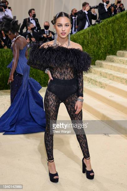 Olivia Rodrigo attends The 2021 Met Gala Celebrating In America: A Lexicon Of Fashion at Metropolitan Museum of Art on September 13, 2021 in New York...
