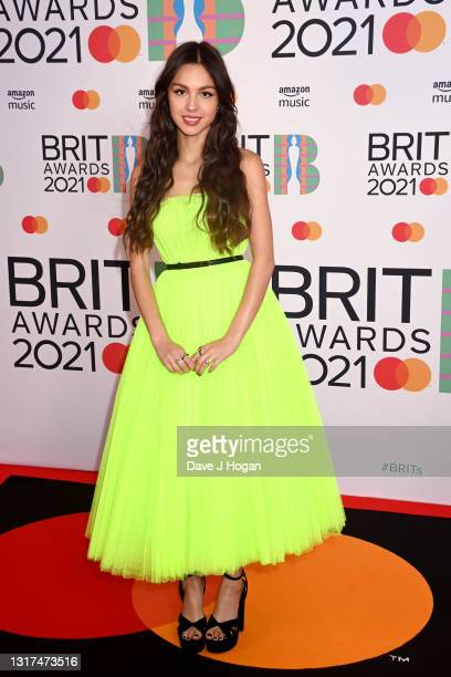Olivia Rodrigo attends The BRIT Awards 2021 at The O2 Arena on May 11, 2021 in London, England.