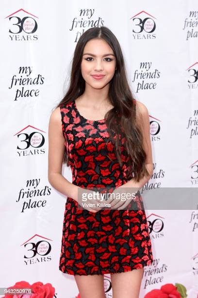 Olivia Rodrigo attends the My Friend's Place 30th Anniversary Gala at Hollywood Palladium on April 7 2018 in Los Angeles California
