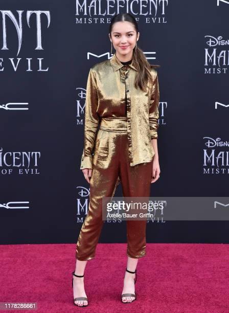 "Olivia Rodrigo attends the World Premiere of Disney's ""Maleficent Mistress of Evil at El Capitan Theatre on September 30 2019 in Los Angeles..."