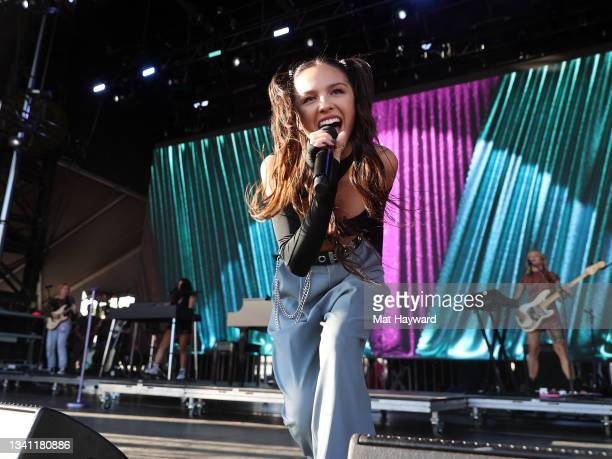 Olivia Rodrigo performs on the Daytime Stage at the 2021 iHeartRadio Music Festival at AREA15 on September 18, 2021 in Las Vegas, Nevada. EDITORIAL...