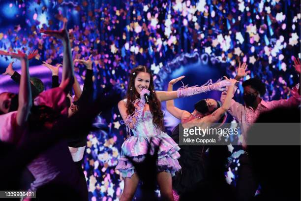 Olivia Rodrigo performs onstage during the 2021 MTV Video Music Awards at Barclays Center on September 12, 2021 in the Brooklyn borough of New York...