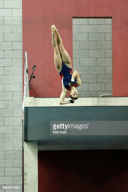 Olivia Rosendahl competes during the Senior Women's Platform Final during the 2017 USA Diving Summer National Championships on August 11 2017 in...