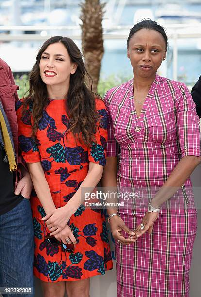 """Olivia Ruiz and Dyana Gaye attend the """"ADAMI"""" Photocall at the 67th Annual Cannes Film Festival on May 20, 2014 in Cannes, France."""