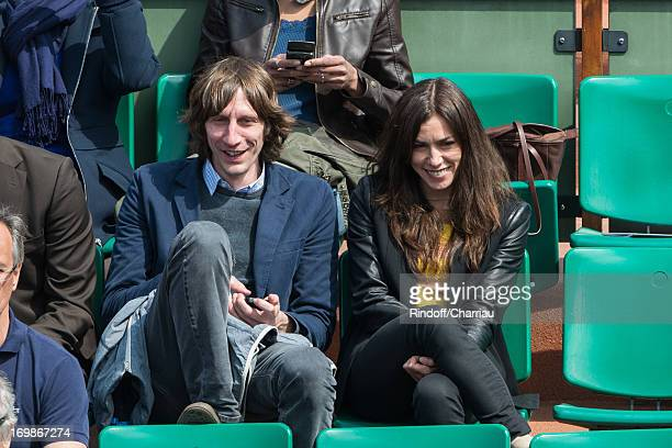 Olivia Ruiz and guest sighting at day nine of the French Open at Roland Garros on June 3 2013 in Paris France