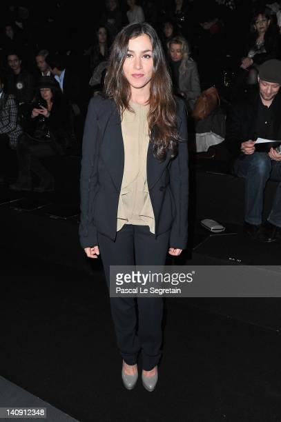 Olivia Ruiz attends the Elie Saab Ready-To-Wear Fall/Winter 2012 show as part of Paris Fashion Week on at Espace Ephemere Tuileries on March 7, 2012...