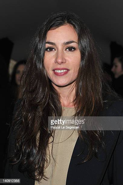 Olivia Ruiz attends the Elie Saab ReadyToWear Fall/Winter 2012 show as part of Paris Fashion Week on at Espace Ephemere Tuileries on March 7 2012 in...