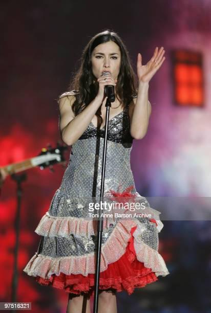 Olivia Ruiz performs during the 25th Victoires de la Musique at Zenith de Paris on March 6, 2010 in Paris, France.