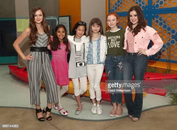 Olivia Sanabia Allison Fernandez Zoe Manarel Lauren Donzis Abby Donnelly and Aubrey Miller attend an 'An American Girl Story Summer Camp Friends For...