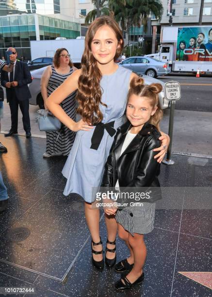 Olivia Sanabia and Raegan Revord are seen on August 03 2018 in Los Angeles California