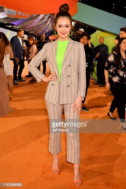Olivia Sanabia attends Nickelodeon's 2019 Kids' Choice Awards at Galen Center on March 23 2019 in Los Angeles California