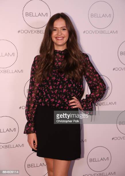 Olivia Sanabia attends the Dove x BELLAMI Collection launch party hosted by Dove Cameron and BELLAMI Hair at Unici Casa Gallery on December 2 2017 in...