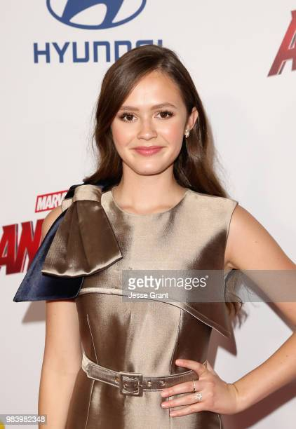 Olivia Sanabia attends the Los Angeles Global Premiere for Marvel Studios' AntMan And The Wasp at the El Capitan Theatre on June 25 2018 in Hollywood...