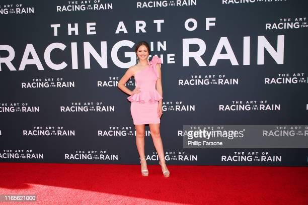 Olivia Sanabia attends the Premiere Of 20th Century Fox's The Art Of Racing In The Rain at El Capitan Theatre on August 01 2019 in Los Angeles...