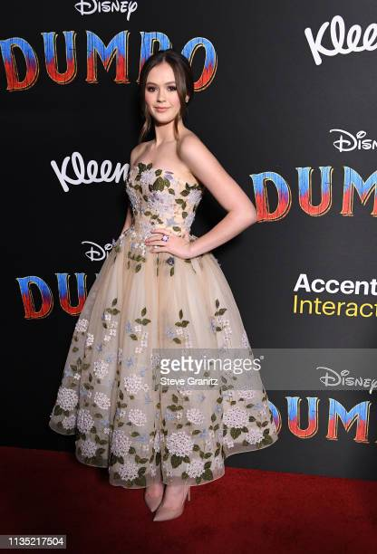 Olivia Sanabia attends the premiere of Disney's Dumbo at El Capitan Theatre on March 11 2019 in Los Angeles California