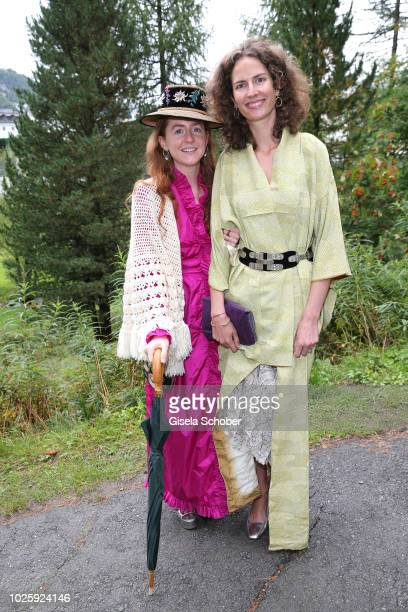 Olivia Schuler and Sofia SaynWittgenstein during the wedding of Prince Konstantin of Bavaria and Princess Deniz of Bavaria born Kaya at the french...