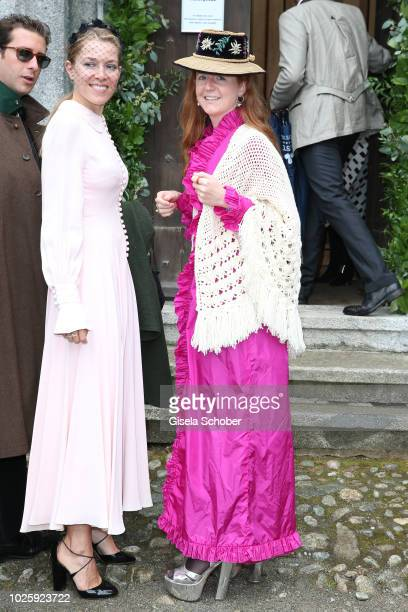 Olivia Schuler during the wedding of Prince Konstantin of Bavaria and Princess Deniz of Bavaria born Kaya at the french church 'Eglise au Bois' on...