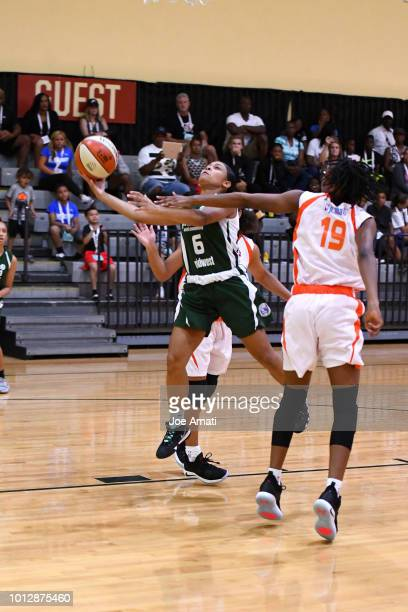 Olivia Smith of Midwest Girls goes to the basket against South Girls during the Jr NBA World Championship on August 7 2018 at the ESPN Wide World of...