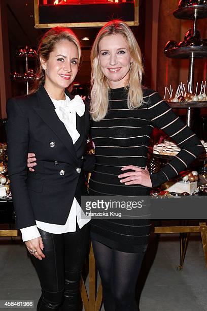 Olivia Steele and Jette Joop attend the ReOpening of the 'La Banca' restaurant at Hotel de Rome on November 05 2014 in Berlin Germany