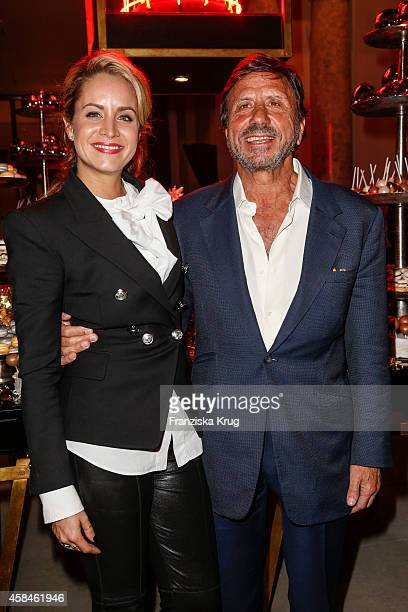 Olivia Steele and Sir Rocco Forte attend the ReOpening of the 'La Banca' restaurant at Hotel de Rome on November 05 2014 in Berlin Germany