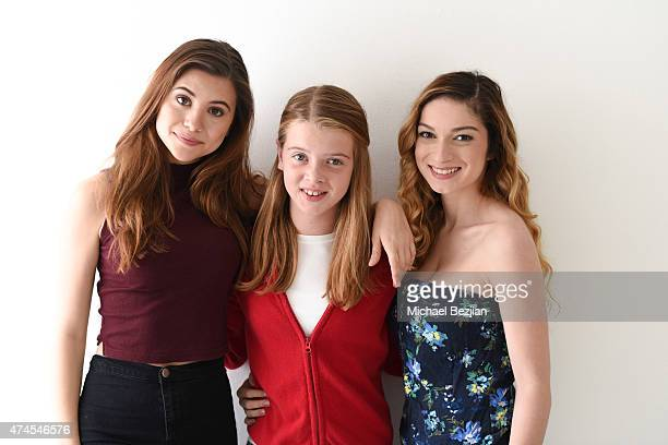 Olivia Stuck, Delaney Raye and Sydney Meyer pose for portrait at The SAP The Starving Artists Project on May 23, 2015 in Los Angeles, California.