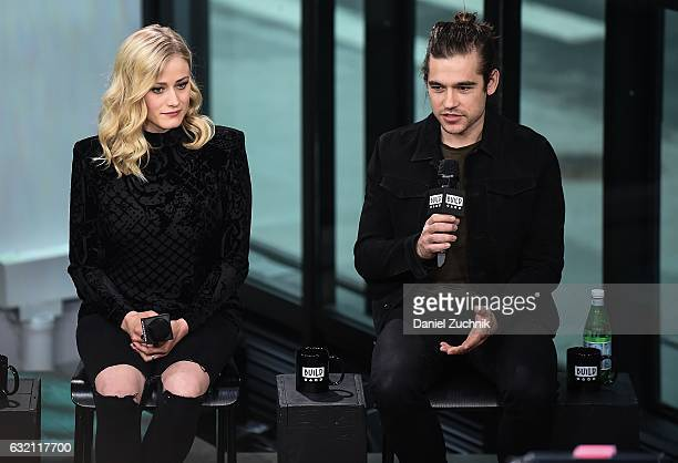 Olivia Taylor Dudley and Jason Ralph attend the Build Series to discuss the show 'The Magicians' at Build Studio on January 19 2017 in New York City