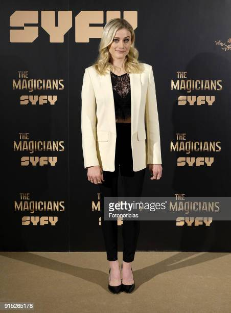 Olivia Taylor Dudley attends a photocall for 'The Magicians' at the Santo Mauro Hotel on February 7 2018 in Madrid Spain