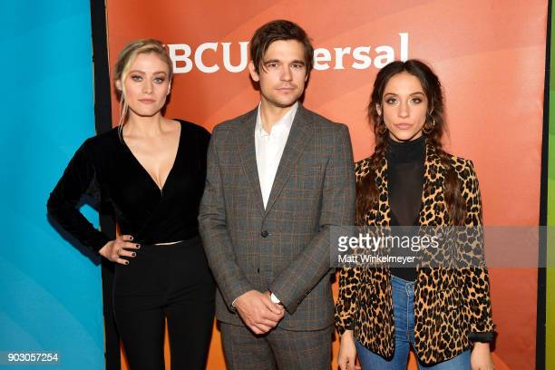 Olivia Taylor Dudley Jason Ralph and Stella Maeve attend the 2018 NBCUniversal Winter Press Tour at The Langham Huntington Pasadena on January 9 2018...