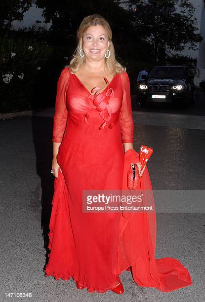Olivia Valere attends the concert of Sopranos Montserrat Caballe and Montserrat Marti for The Children for Peace at Hotel Puente Romano on June 23...