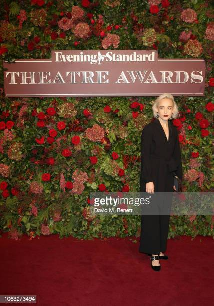 Olivia Vinall arrives at The 64th Evening Standard Theatre Awards at the Theatre Royal Drury Lane on November 18 2018 in London England