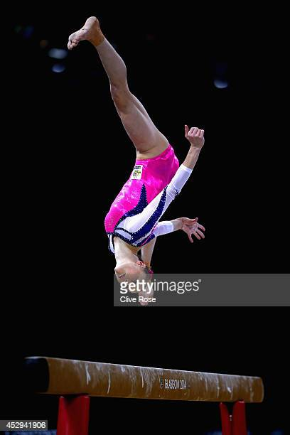 Olivia Vivian of Australia in action during the Women's AllAround Final at the SECC Precinct during day seven of the Glasgow 2014 Commonwealth Games...
