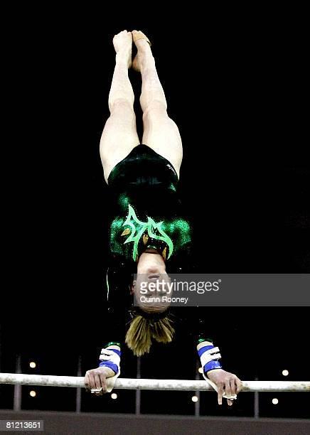 Olivia Vivian of Western Australia competes on the Uneven Bars during day two of the Australian gymnastics Olympic selection trials at the Vodafone...