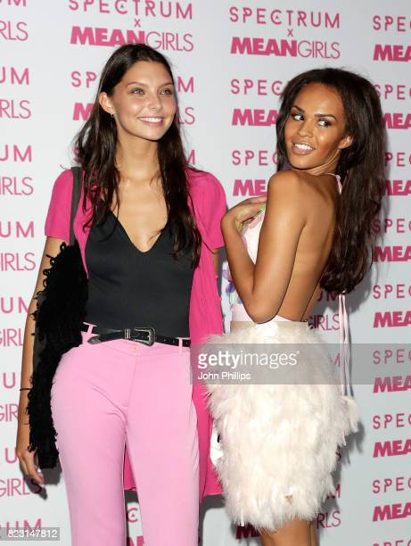 Olivia Wardell and TalulahEve Brown attend as Spectrum collections launch 'Burn Book' a collection in partnership with Mean Girls and Paramount at...